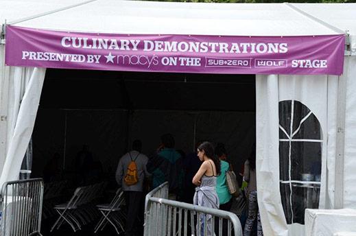 Culinary Demos, Macy's and Subzero/Wolf Sponsor
